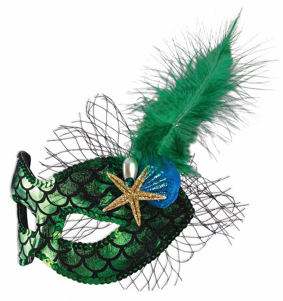 Mermaid Half Mask - Green
