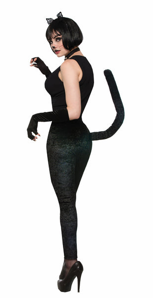 Black Cat Leggings with Tail