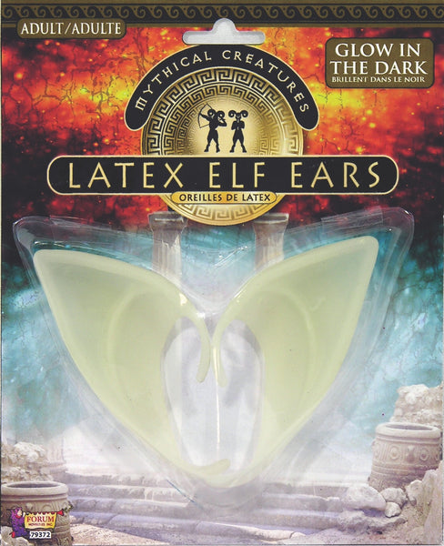 Latex Glow in the Dark Elf Ears