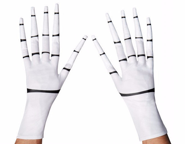 Jack Skellington Gloves White
