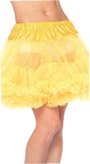 Layered Tulle Petticoat Yellow