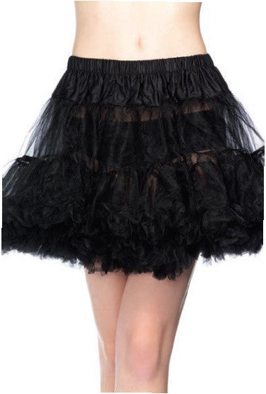 Layered Tulle Petticoat Black