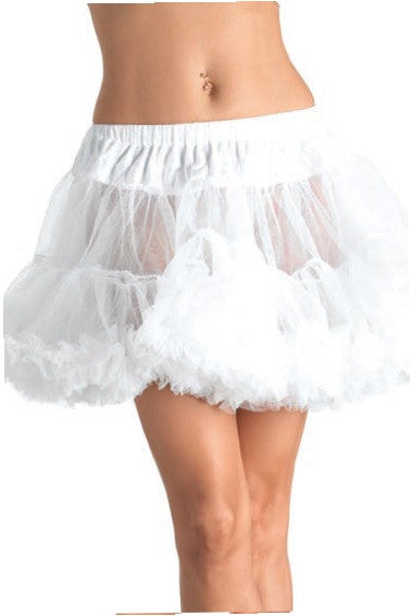 Layered Tulle Petticoat White