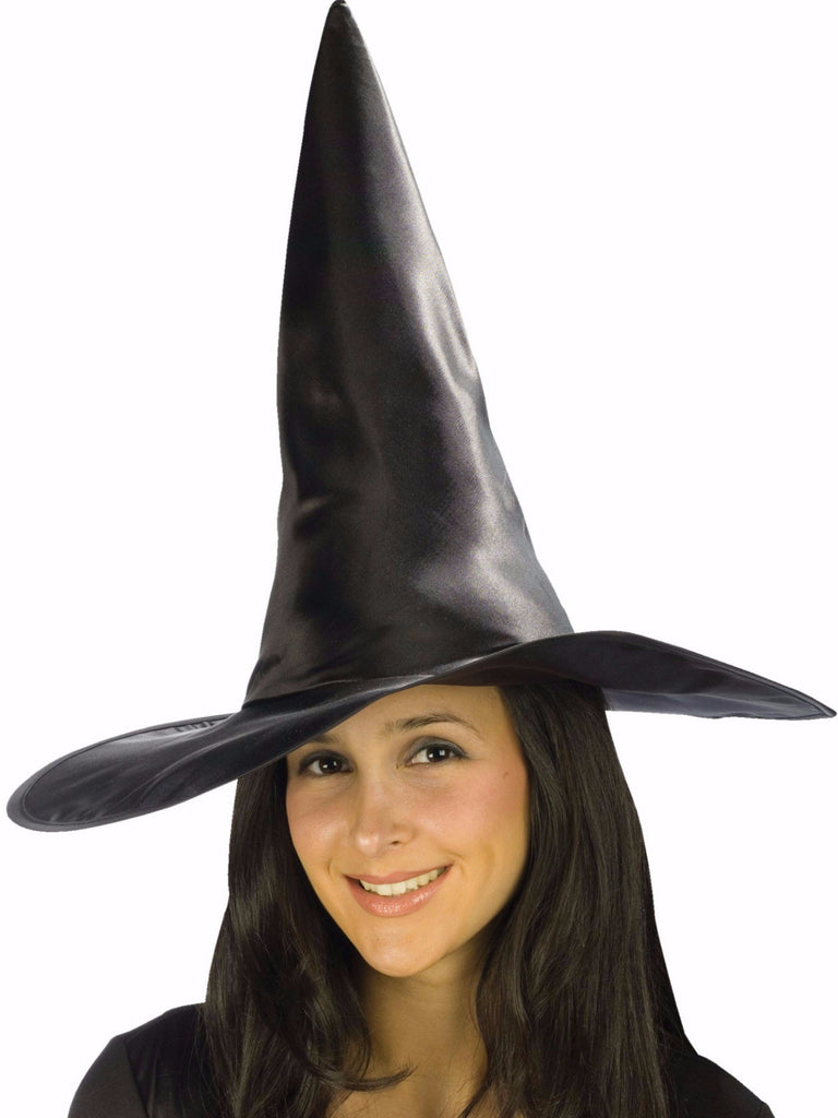 Satin Witch Hat Black