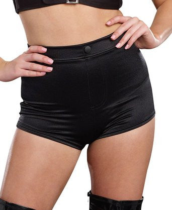 Hi Waist Shorts Black