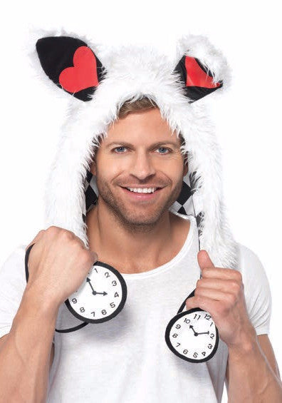 White Rabbit Furry Hood