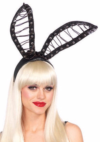Satin Lace Up Bendable Bunny Ears