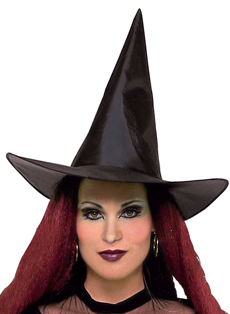 Witch Taffeta Hat Black