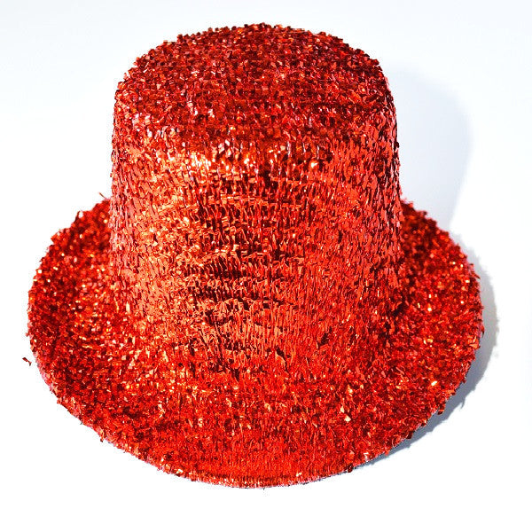 Mini Glitter Top Hat Red
