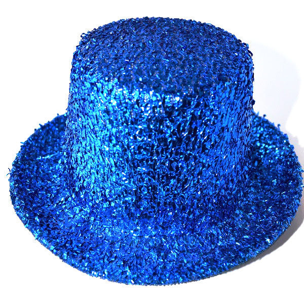 Mini Glitter Top Hat Blue
