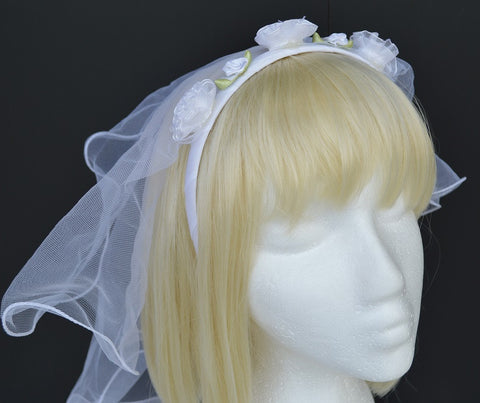 Bachelorette Bridal Veil White