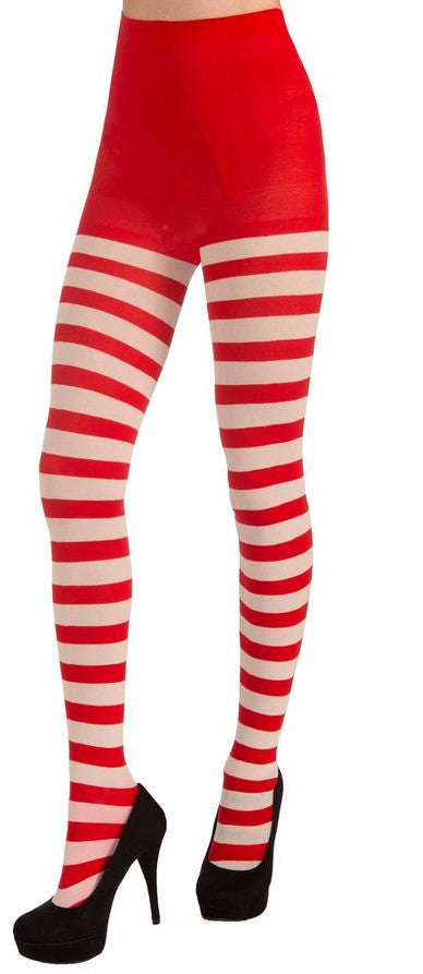 Christmas Striped Tights