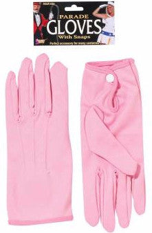 Parade Gloves Short with Snap Pink