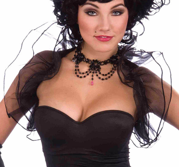 Burlesque Black Tulle Shrug