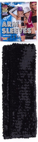 Arm Sleeves Black Sequin