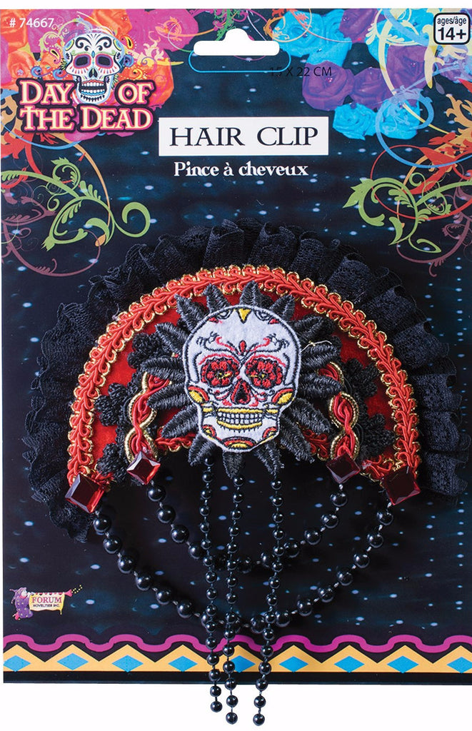 Day of the Dead Skull Hair Clip