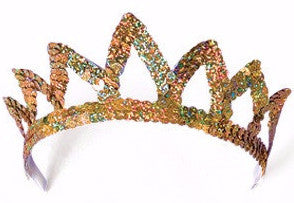 7 Point Sequin Tiara Gold