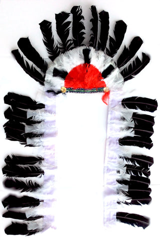 Black/White Native American Headdress