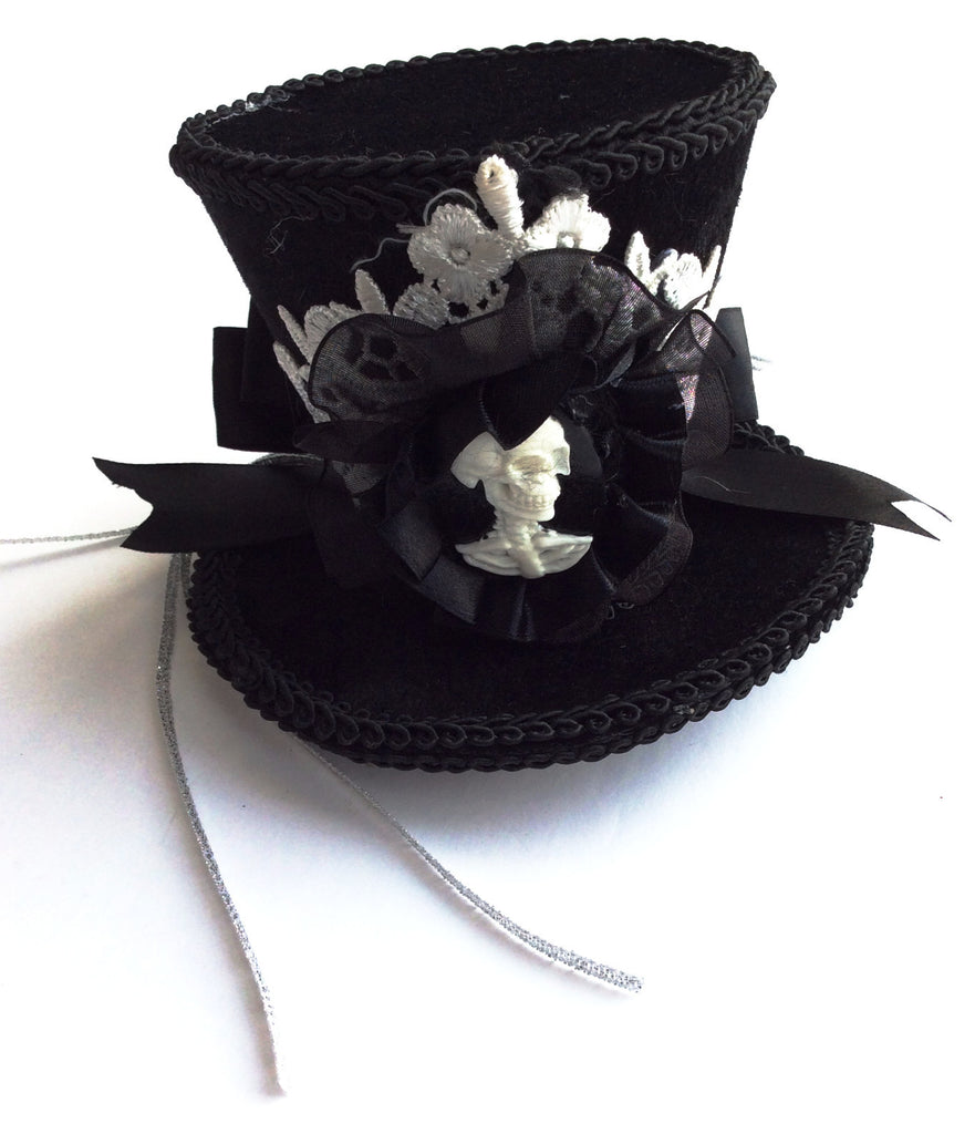 Skeleton Mini Top Hat