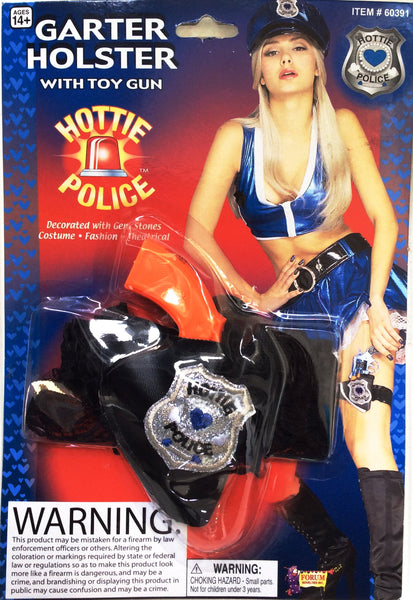 Hottie Police Gun and Garter