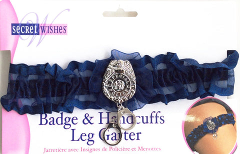 Badge & Handcuffs Leg Garter