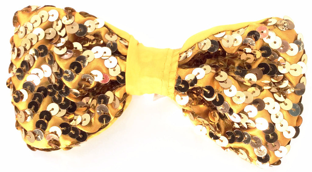 Sequin Bow Tie Gold