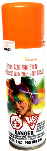 Bright Color Hairspray Orange