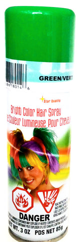 Bright Color Hairspray Green