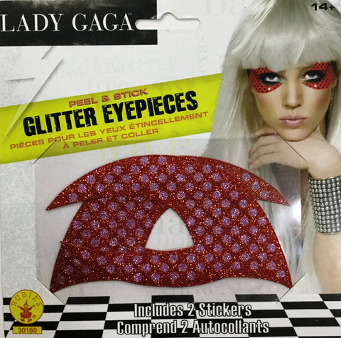 Lady Gaga Red Glitter Eyepieces