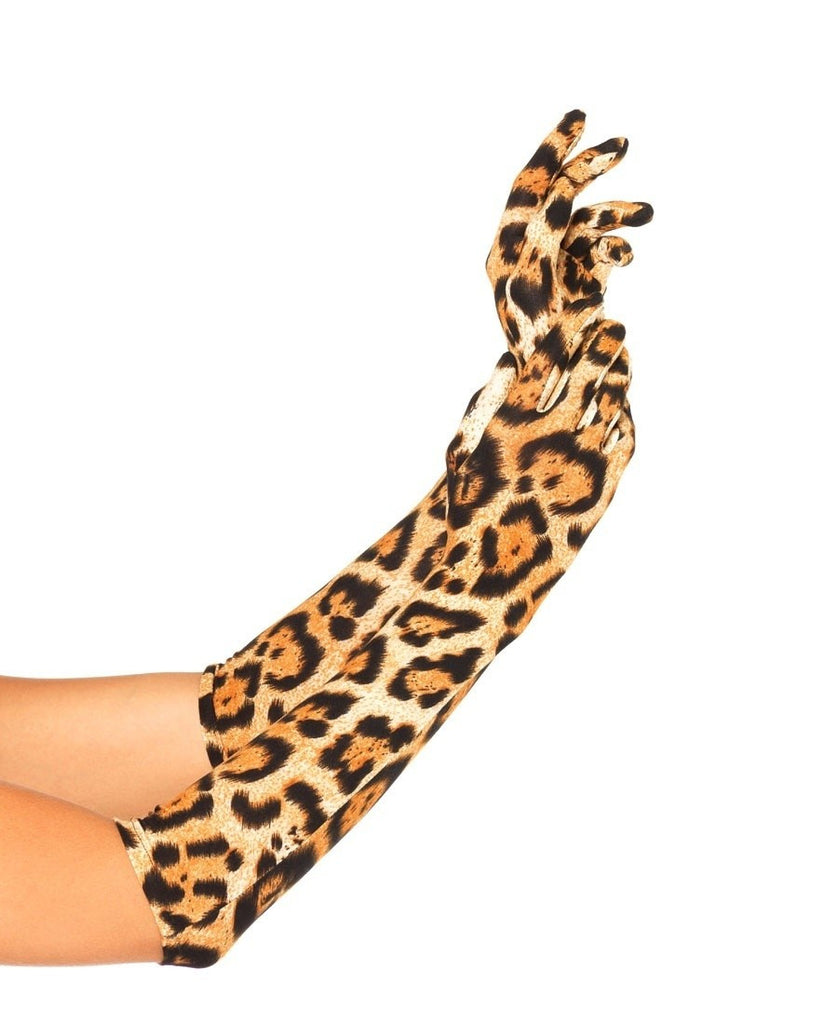 Leopard Elbow Gloves