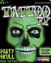 FX Party Skull Face Tattoo Glow in the Dark