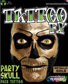 FX Party Skull Face Tattoo Gold Foil