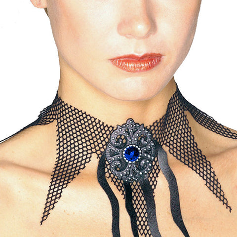 Fishnet Choker with Stones