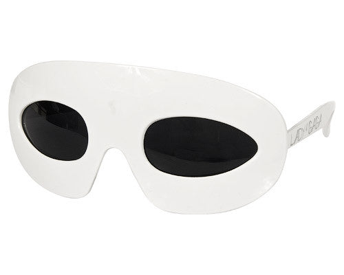 Lady Gaga Glasses White
