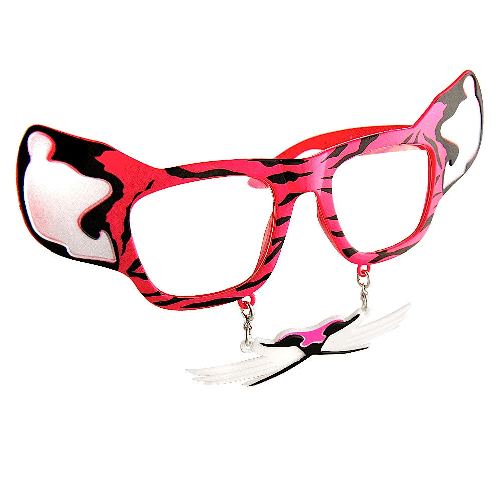 Pink Tiger with Whiskers Furry Shades