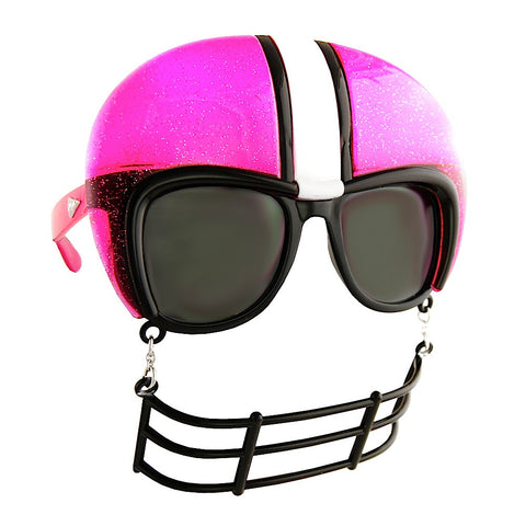 Football Glasses Pink Glitter and Black Sun-Staches