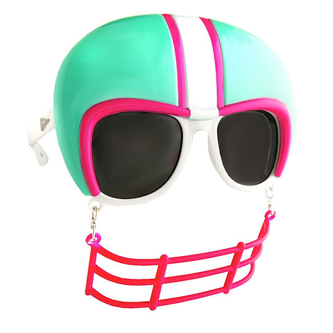 Football Glasses Turquoise and Pink Sun-Staches