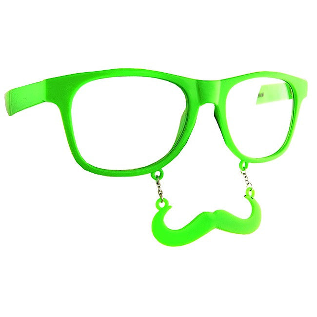 Neon Green Sun Stache Pack