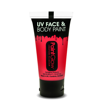 UV Neon Face & Body Paint 50ml Red