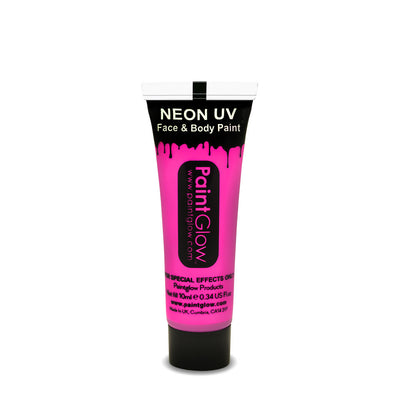 UV Neon Face & Body Paint 10ml Pink
