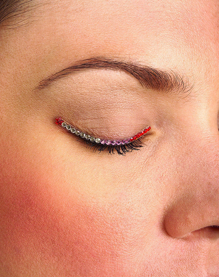 Sparkle Eyelids Red,Pink and Silver