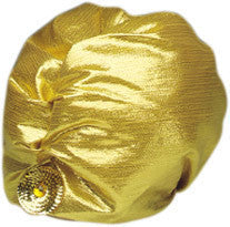 Hat Turban Lame Gold