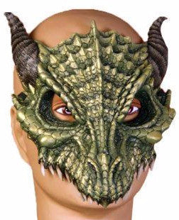 Dragon Half Mask Green