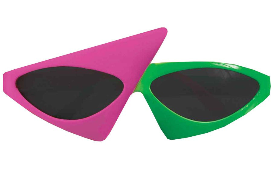 Two Tone Glasses Neon Pink/Green