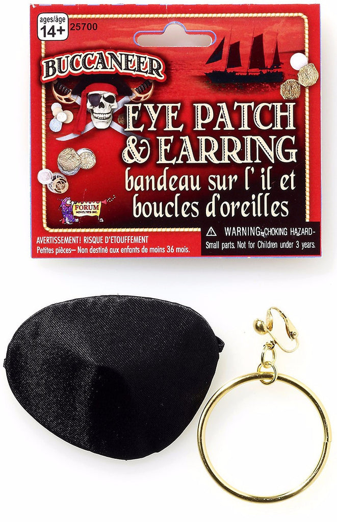 Pirate Earring and Eye Patch