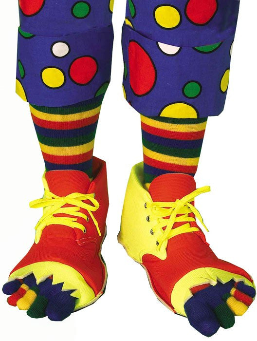 Clown Shoes and Toe Sock Set