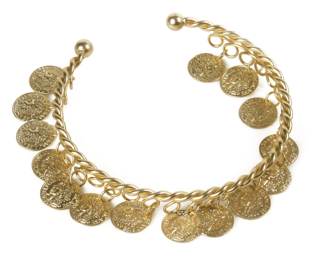 Spartan Queen Coin Bracelet Gold