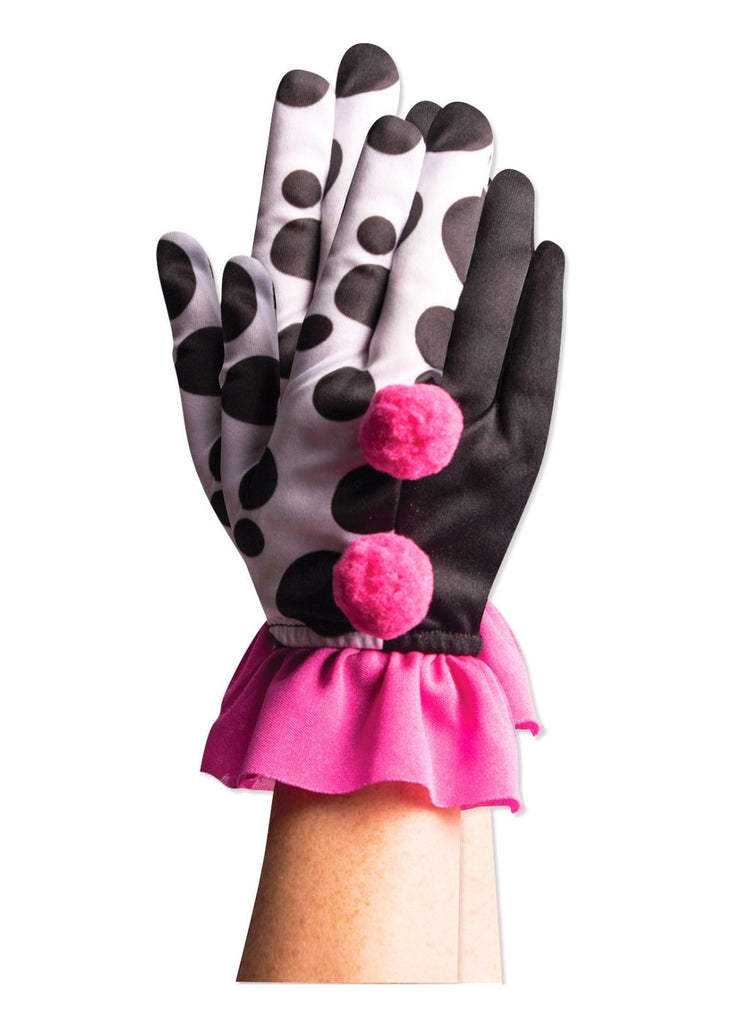 Harlequin Clown Rufflle Gloves