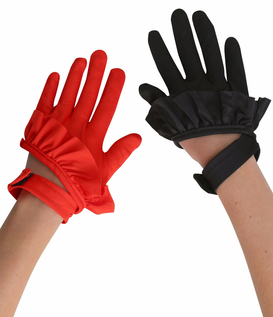 Clown Gloves Black/Red