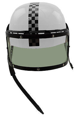 White Plastic Racing Helmet